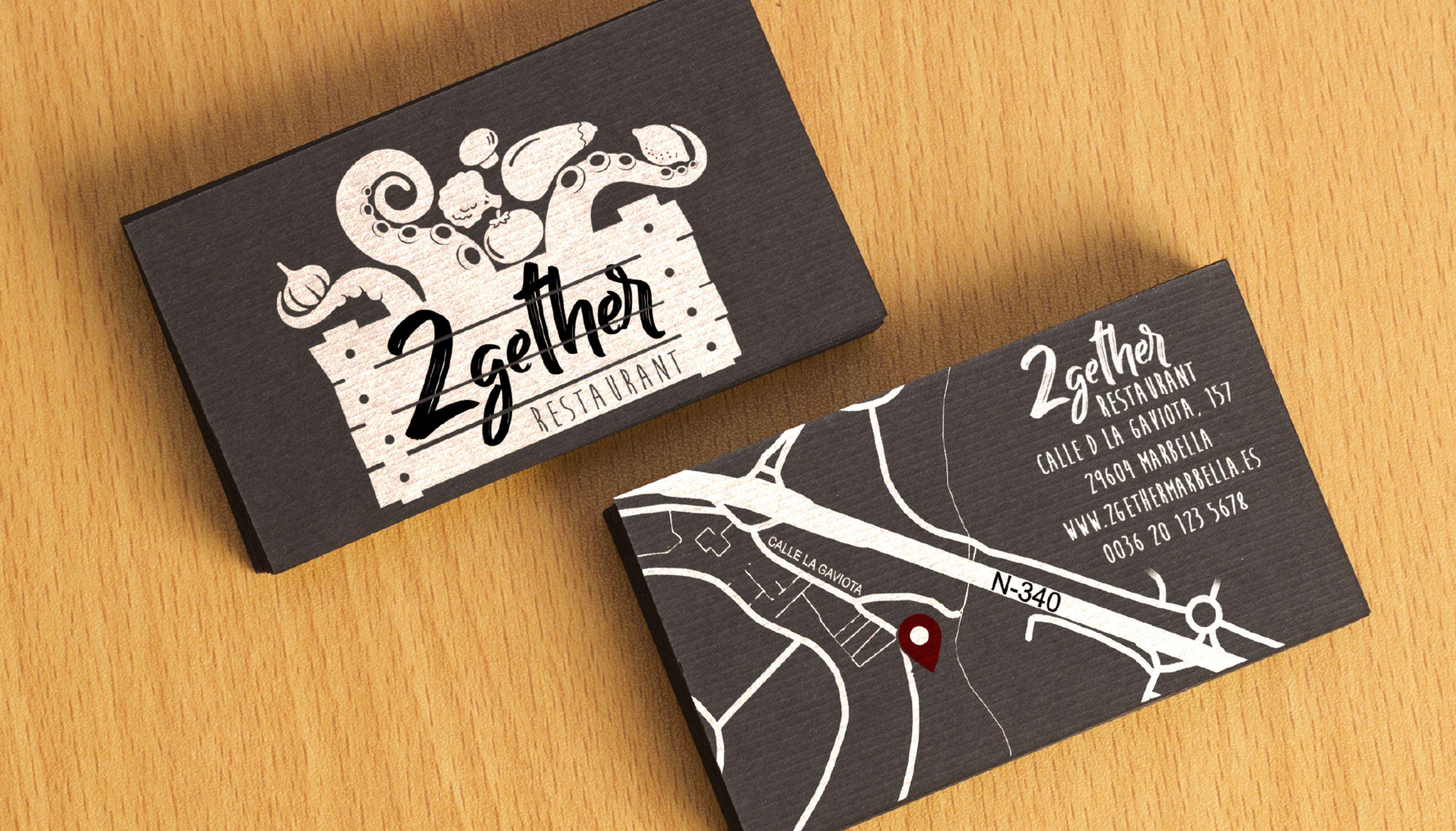 2Gether Restaurant Marbella névjegy design és arculat tervezés