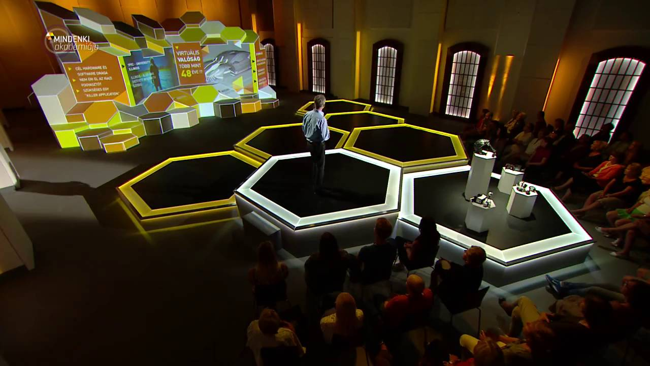 Mindenki Akadémiája - video mapping fal