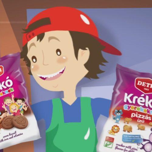 Detki keksz animációs reklámfilm pillanatkép