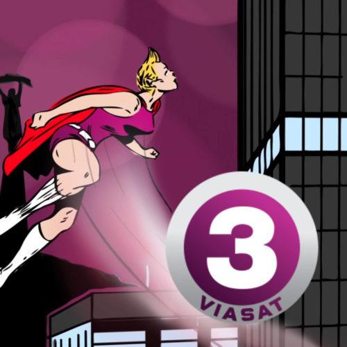 Viasat - kreatív felületek: képregény animáció kampányfilm üzleti partnereknek